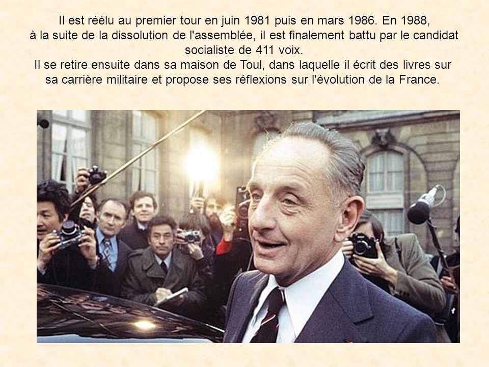 Il est réélu au premier tour en juin 1981 puis en mars 1986. En 1988,