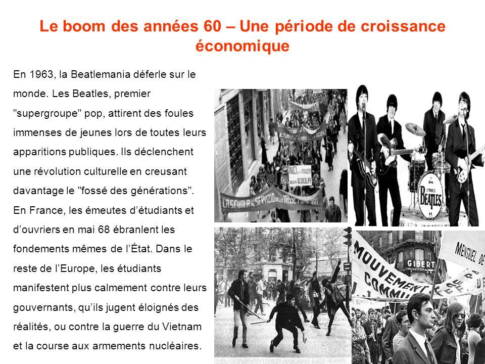 Le boom des années 60 – Une période de croissance économique