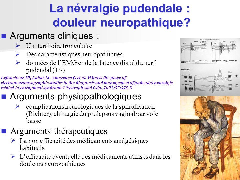 La névralgie pudendale : douleur neuropathique