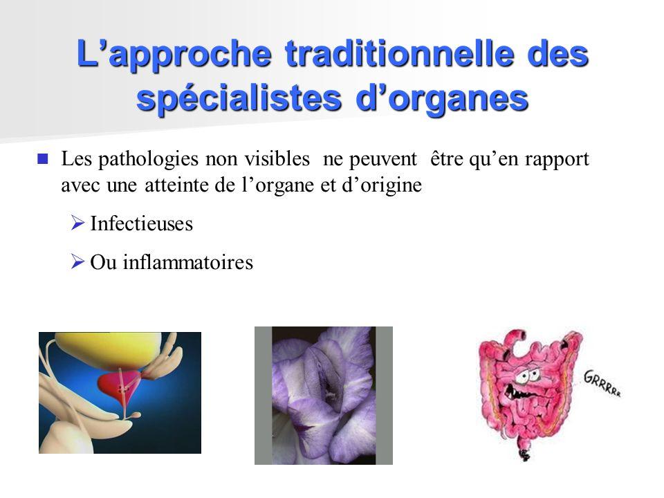 L'approche traditionnelle des spécialistes d'organes