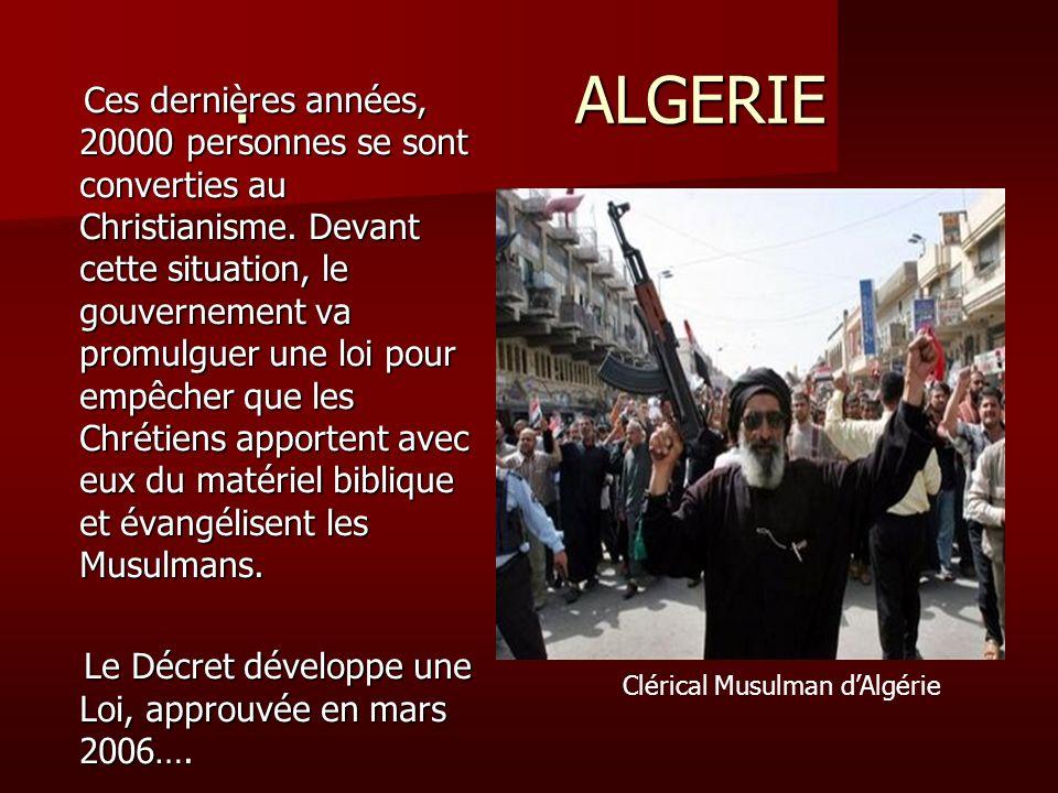 . ALGERIE