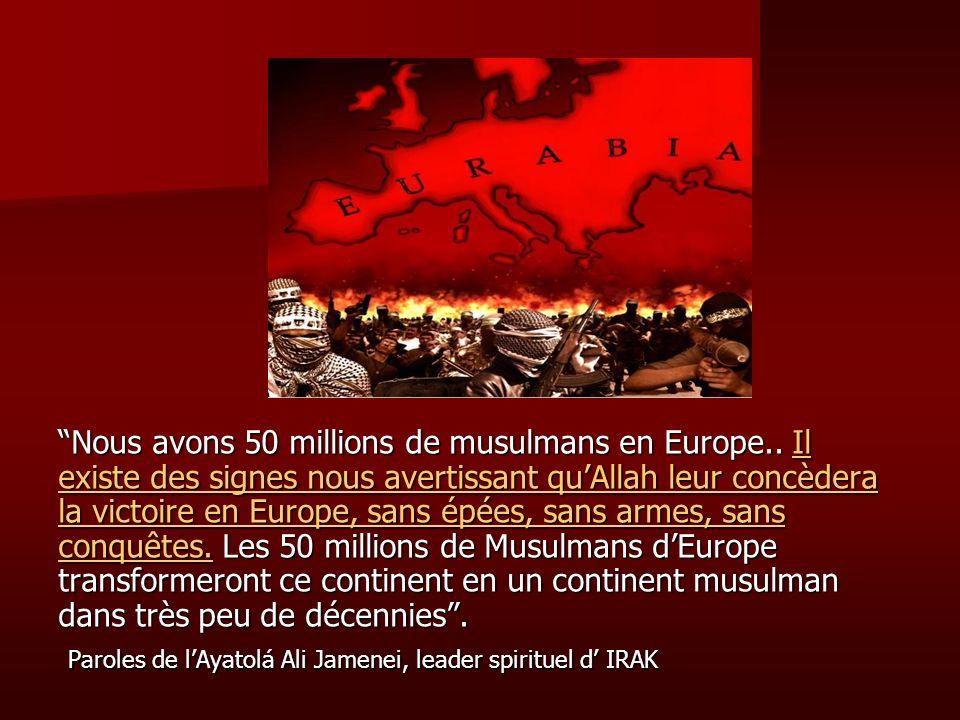 Nous avons 50 millions de musulmans en Europe