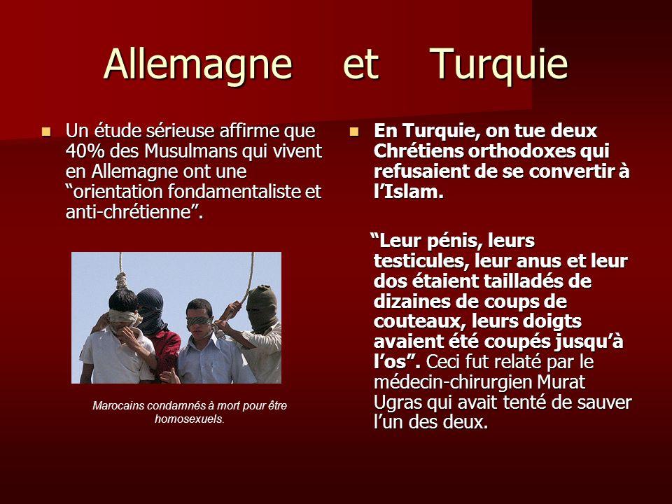 Marocains condamnés à mort pour être homosexuels.