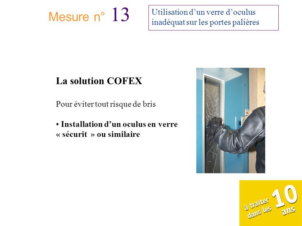 Mesure n° 13 La solution COFEX