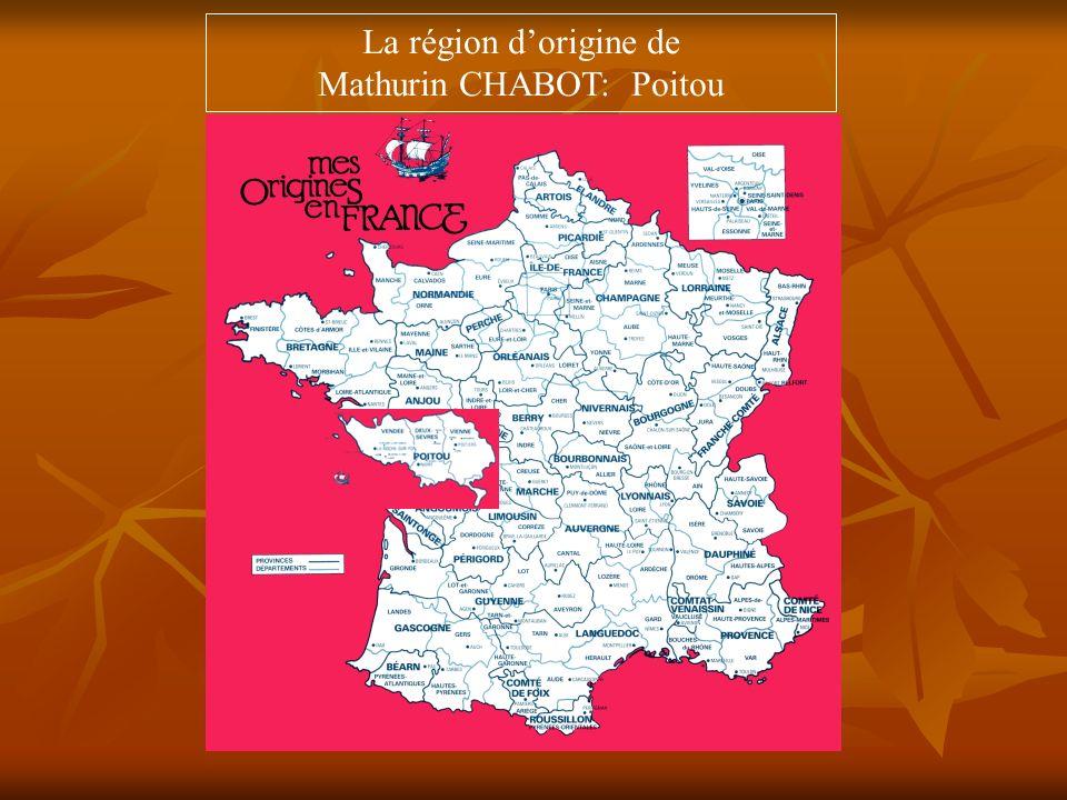 Mathurin CHABOT: Poitou