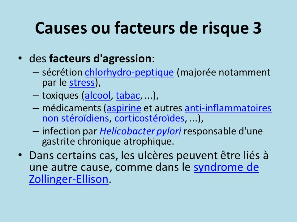 Causes ou facteurs de risque 3