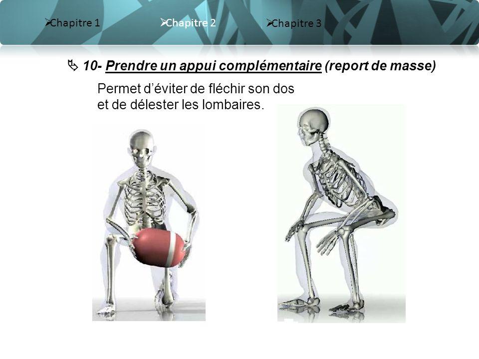  10- Prendre un appui complémentaire (report de masse)
