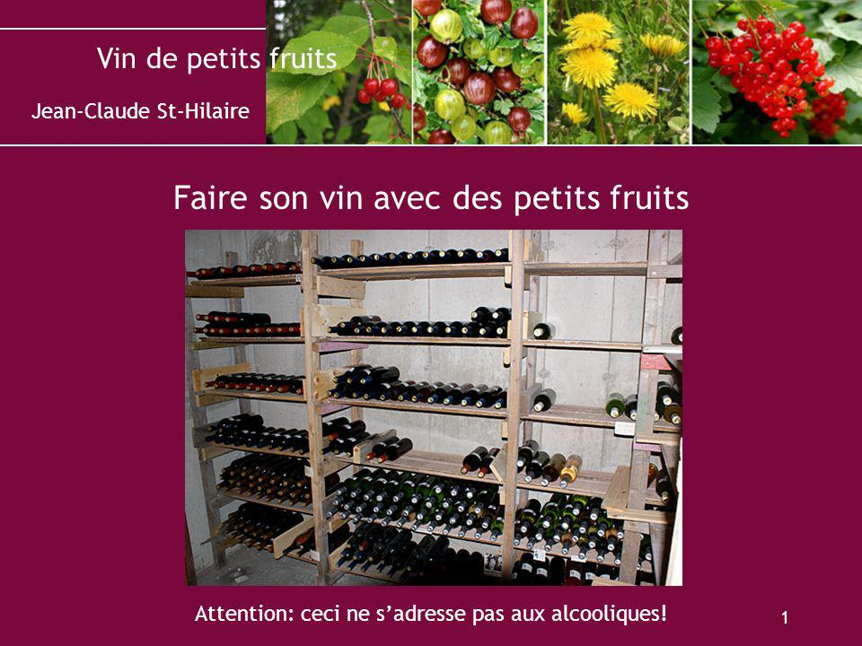 Faire son vin avec des petits fruits