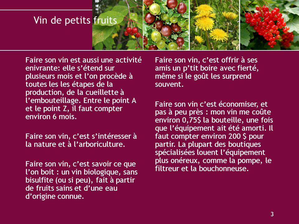 faire son vin avec des petits fruits ppt video online. Black Bedroom Furniture Sets. Home Design Ideas