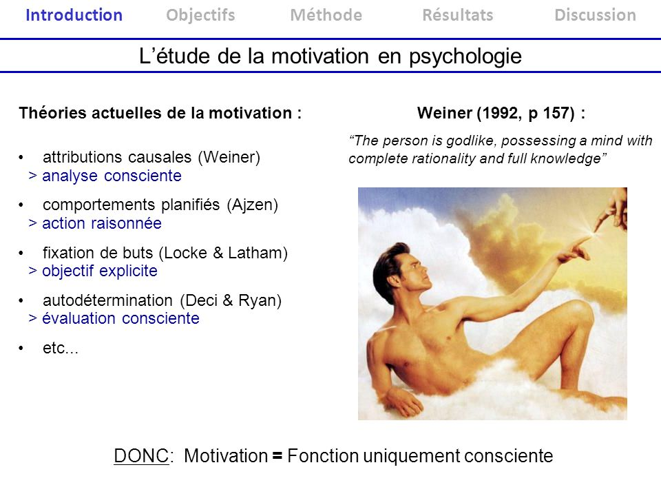 L'étude de la motivation en psychologie