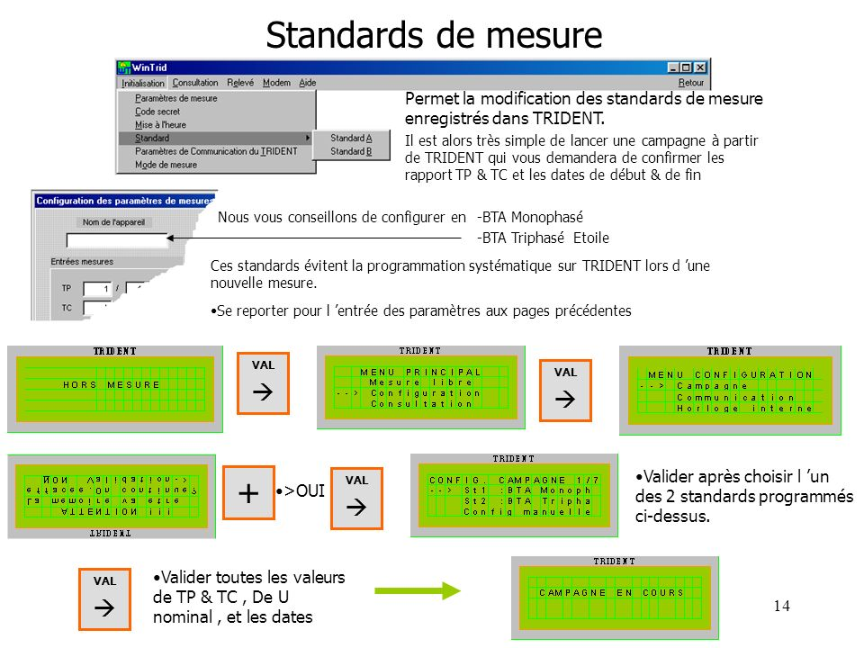 Standards de mesure +    