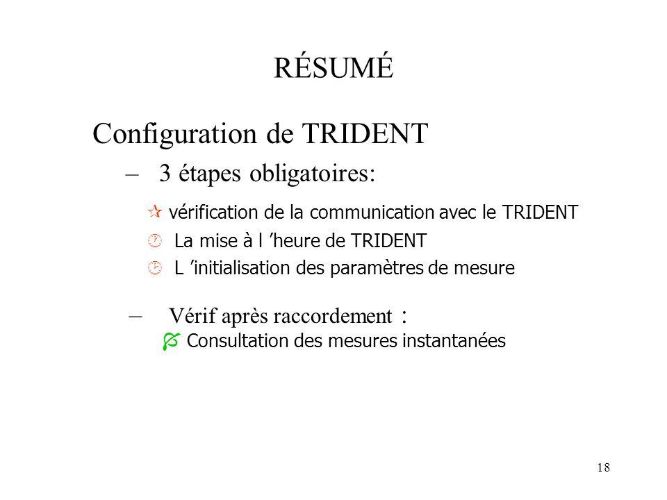 Configuration de TRIDENT