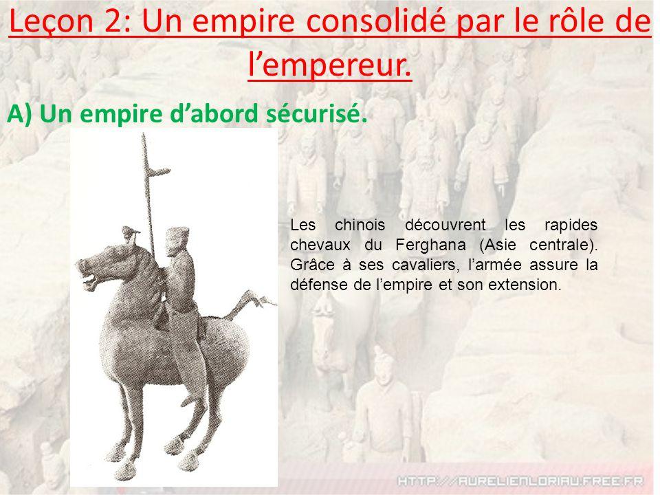 Leçon 2: Un empire consolidé par le rôle de l'empereur.