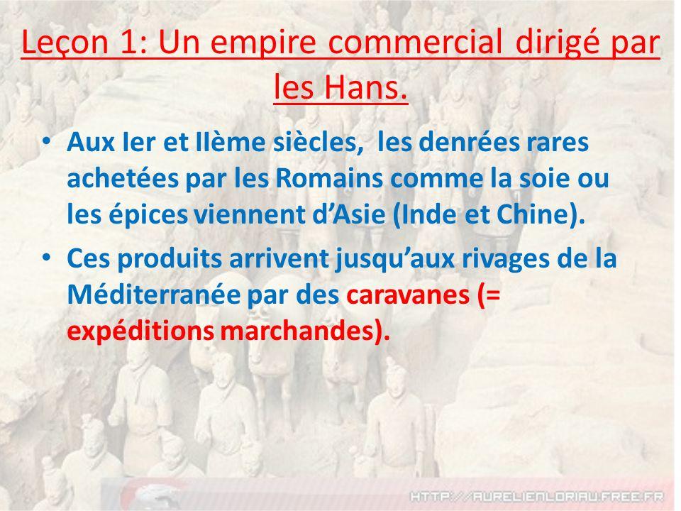 Leçon 1: Un empire commercial dirigé par les Hans.