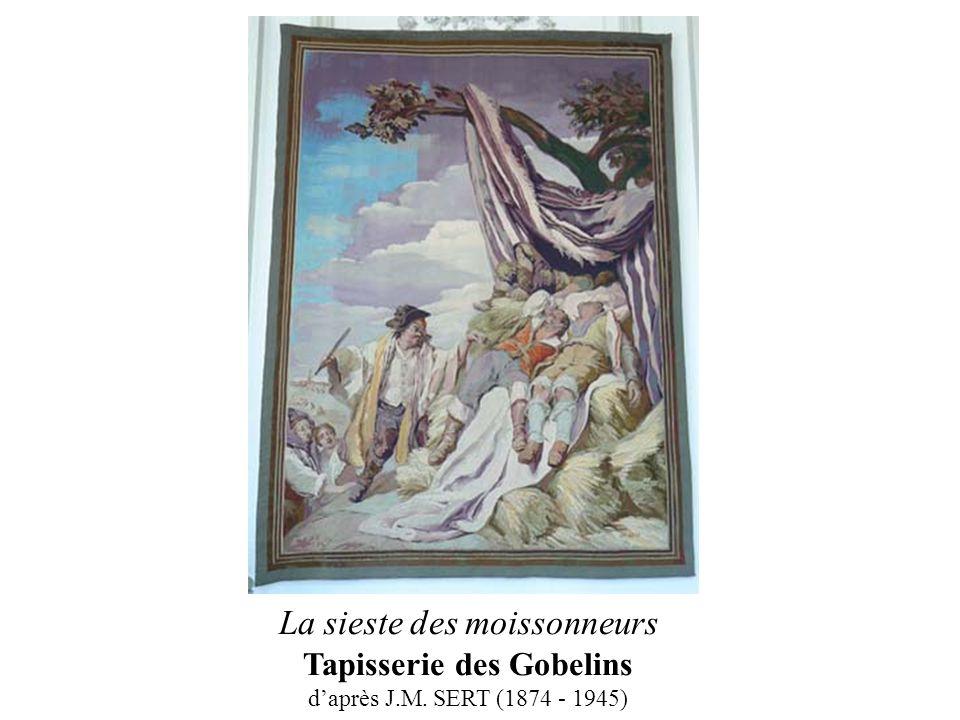 La sieste des moissonneurs Tapisserie des Gobelins d'après J. M