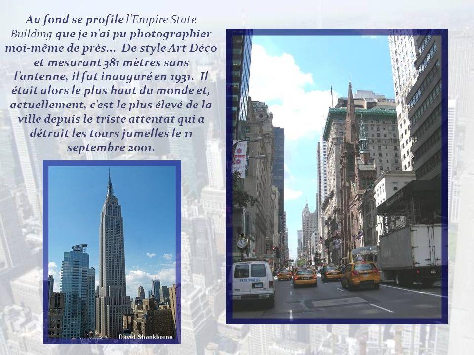 Au fond se profile l'Empire State Building que je n'ai pu photographier moi-même de près...