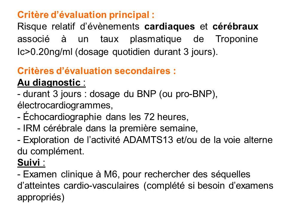 Critère d'évaluation principal :