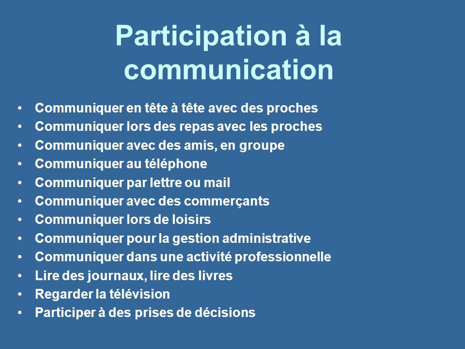 Participation à la communication
