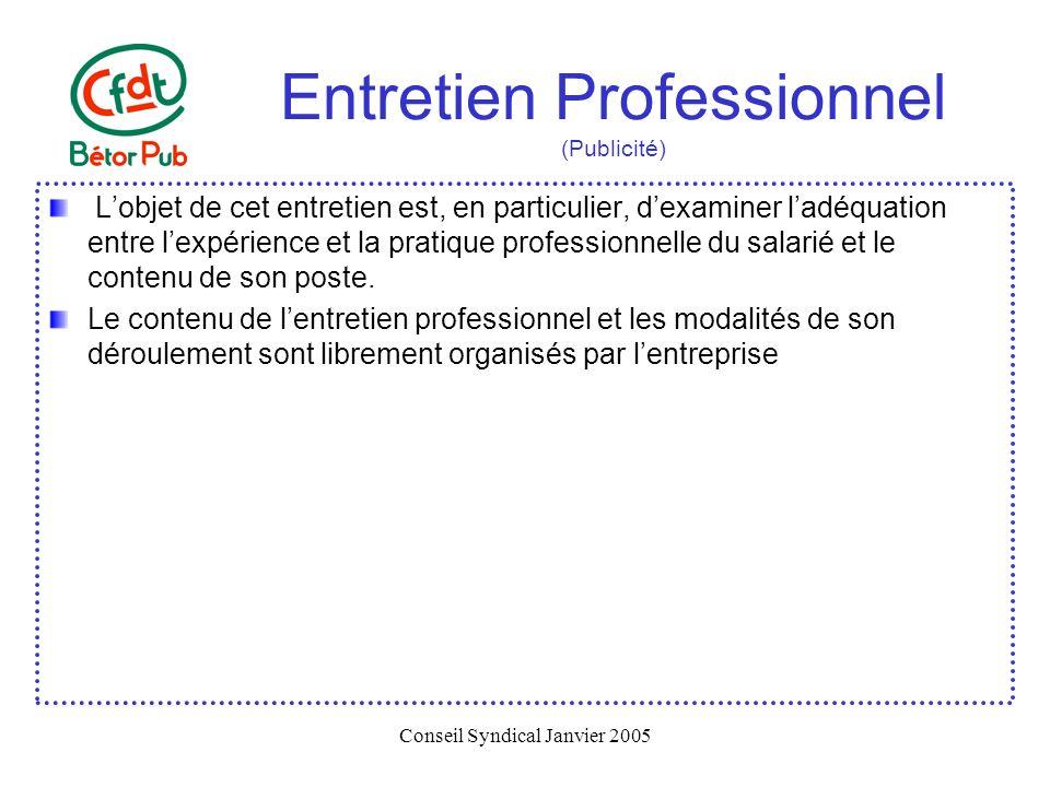 Entretien Professionnel (Publicité)