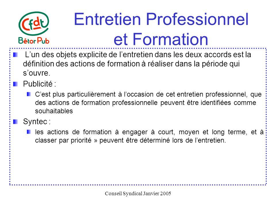 Entretien Professionnel et Formation