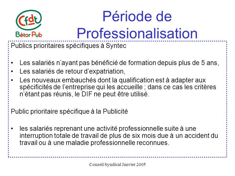 Période de Professionalisation