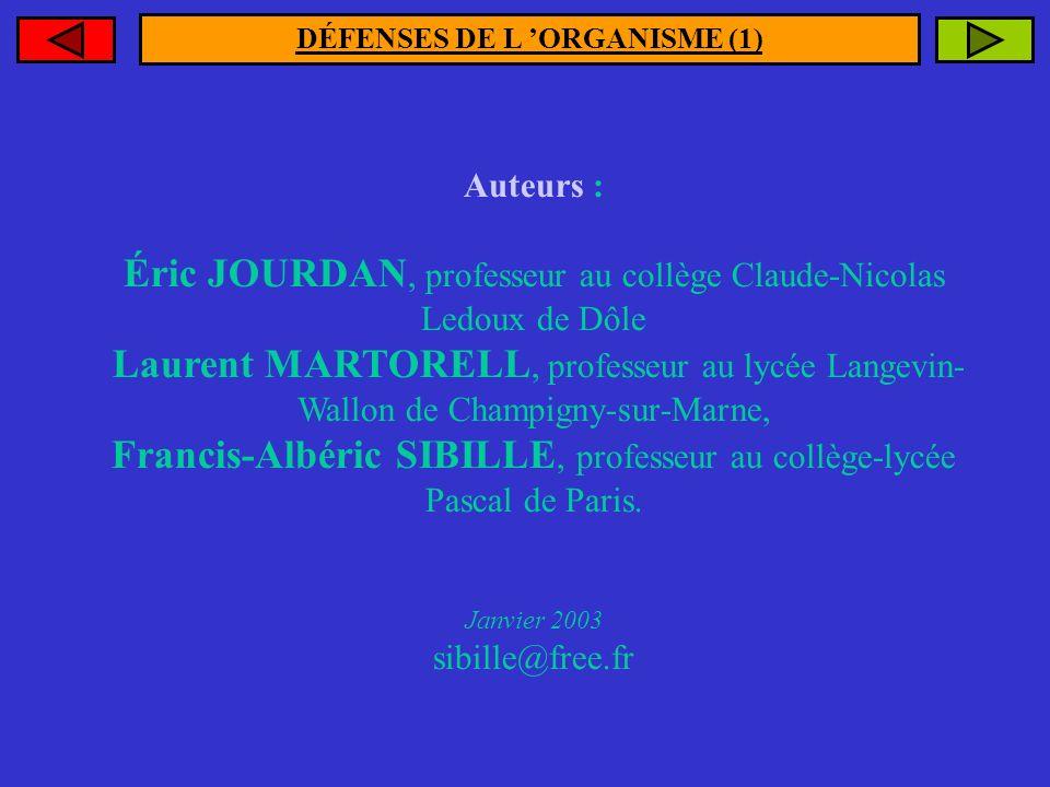 DÉFENSES DE L 'ORGANISME (1)