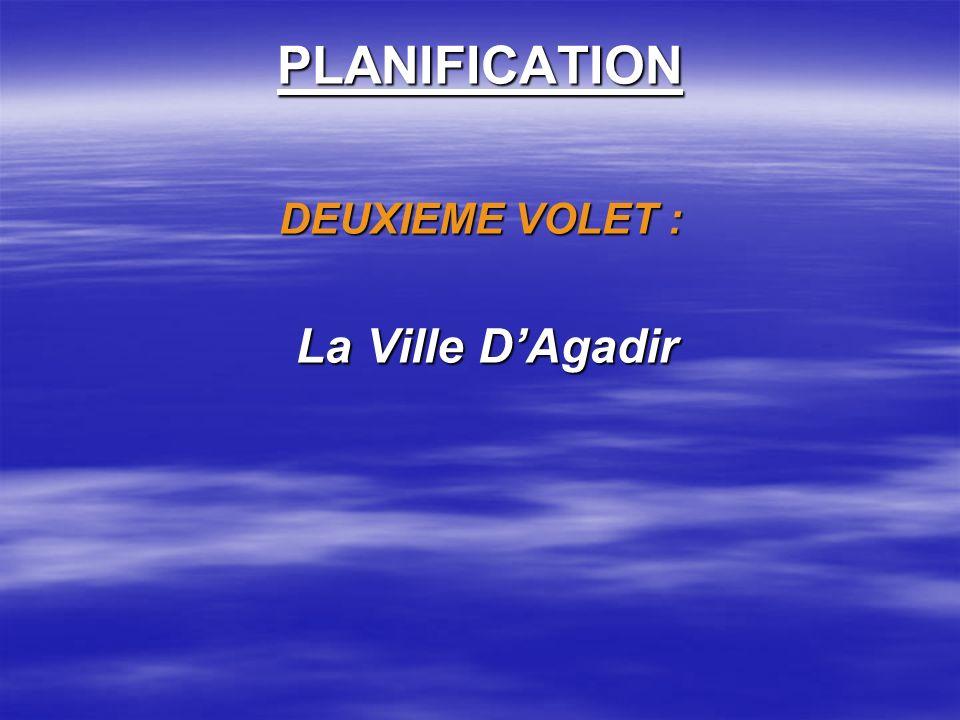 PLANIFICATION DEUXIEME VOLET : La Ville D'Agadir