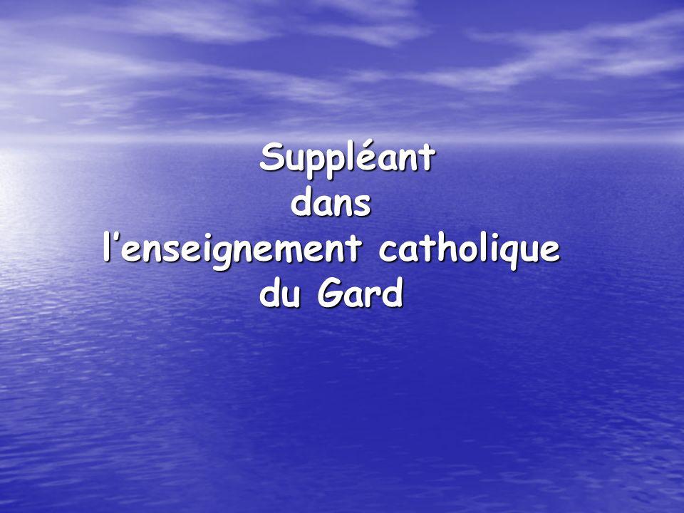 Suppléant dans l'enseignement catholique du Gard