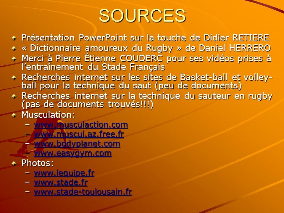 SOURCES Présentation PowerPoint sur la touche de Didier RETIERE