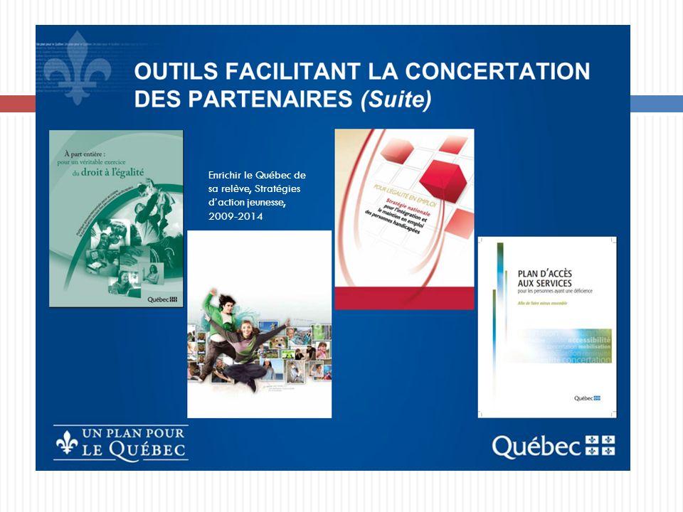 Enrichir le Québec de sa relève, Stratégies d'action jeunesse,