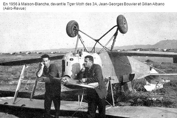 En 1956 à Maison-Blanche, devant le Tiger Moth des 3A, Jean-Georges Bouvier et Gilian Albano