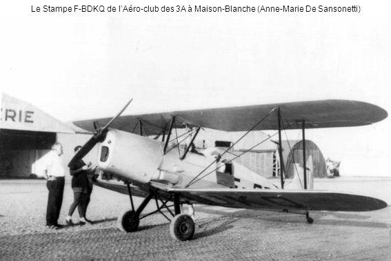 Le Stampe F-BDKQ de l'Aéro-club des 3A à Maison-Blanche (Anne-Marie De Sansonetti)