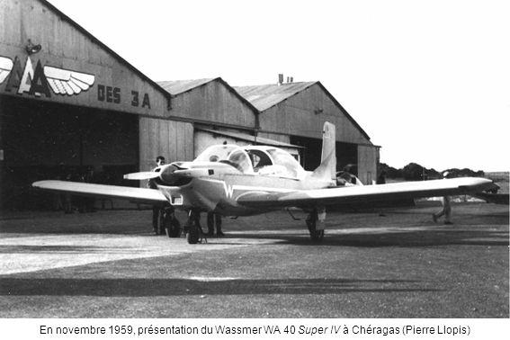 En novembre 1959, présentation du Wassmer WA 40 Super IV à Chéragas (Pierre Llopis)