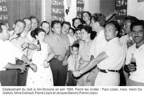 Déplacement du club à Aïn-Skrouna en juin 1956