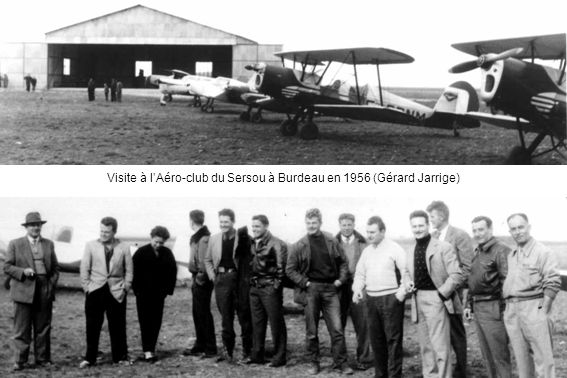 Visite à l'Aéro-club du Sersou à Burdeau en 1956 (Gérard Jarrige)