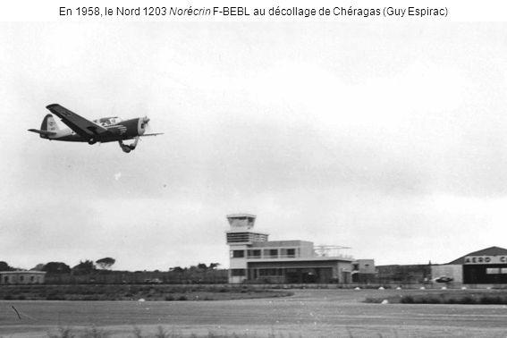 En 1958, le Nord 1203 Norécrin F-BEBL au décollage de Chéragas (Guy Espirac)