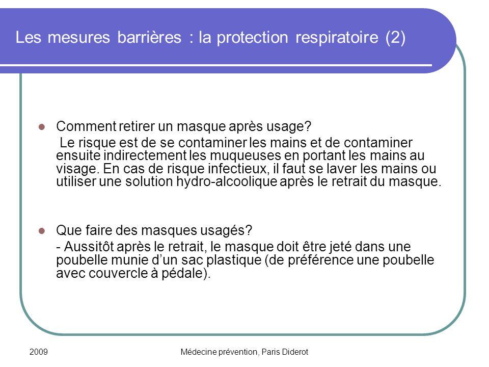 Les mesures barrières : la protection respiratoire (2)