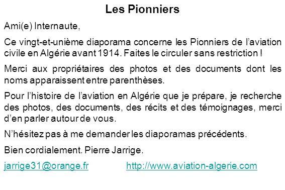 Les Pionniers Ami(e) Internaute,