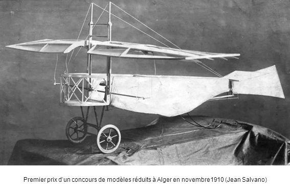 Premier prix d'un concours de modèles réduits à Alger en novembre1910 (Jean Salvano)