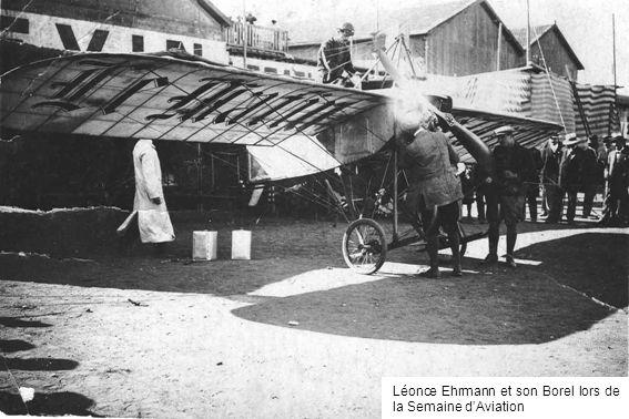 Léonce Ehrmann et son Borel lors de la Semaine d'Aviation