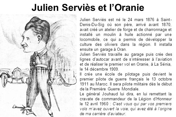 Julien Serviès et l'Oranie