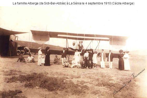La famille Alberge (de Sidi-Bel-Abbès) à La Sénia le 4 septembre 1910 (Cécile Alberge)