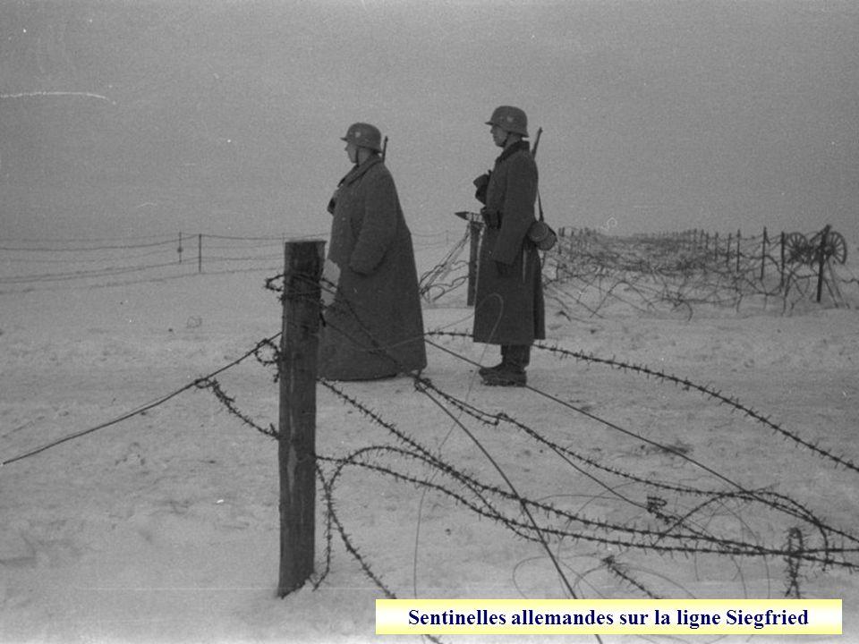 Sentinelles allemandes sur la ligne Siegfried