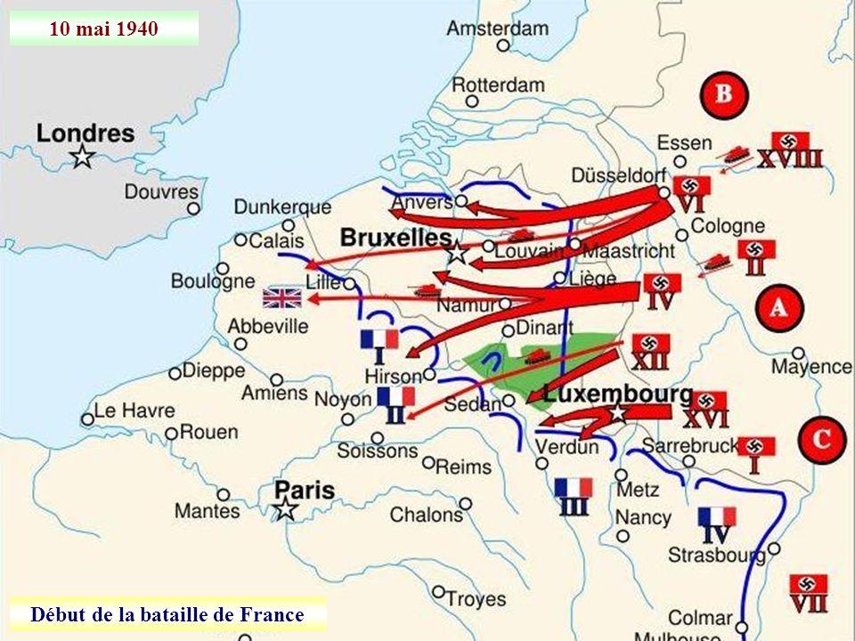 Début de la bataille de France