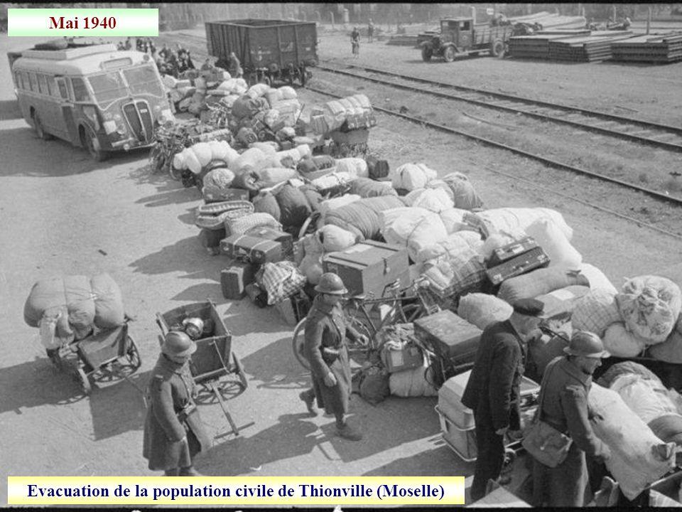 Evacuation de la population civile de Thionville (Moselle)