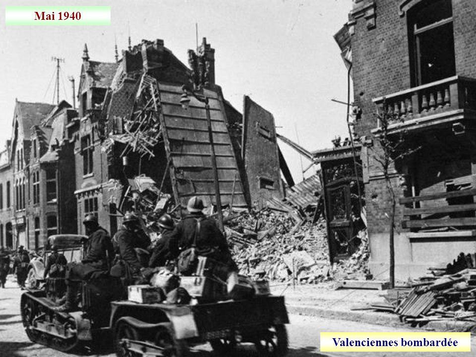 Valenciennes bombardée