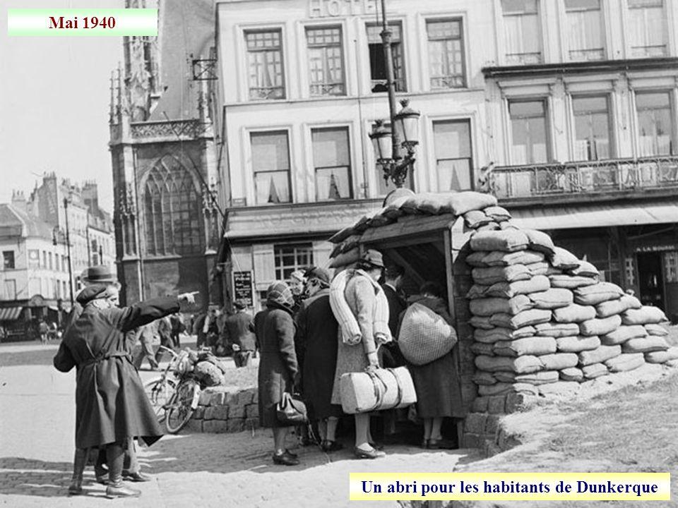 Un abri pour les habitants de Dunkerque