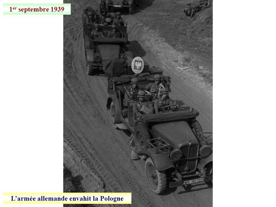 L'armée allemande envahit la Pologne