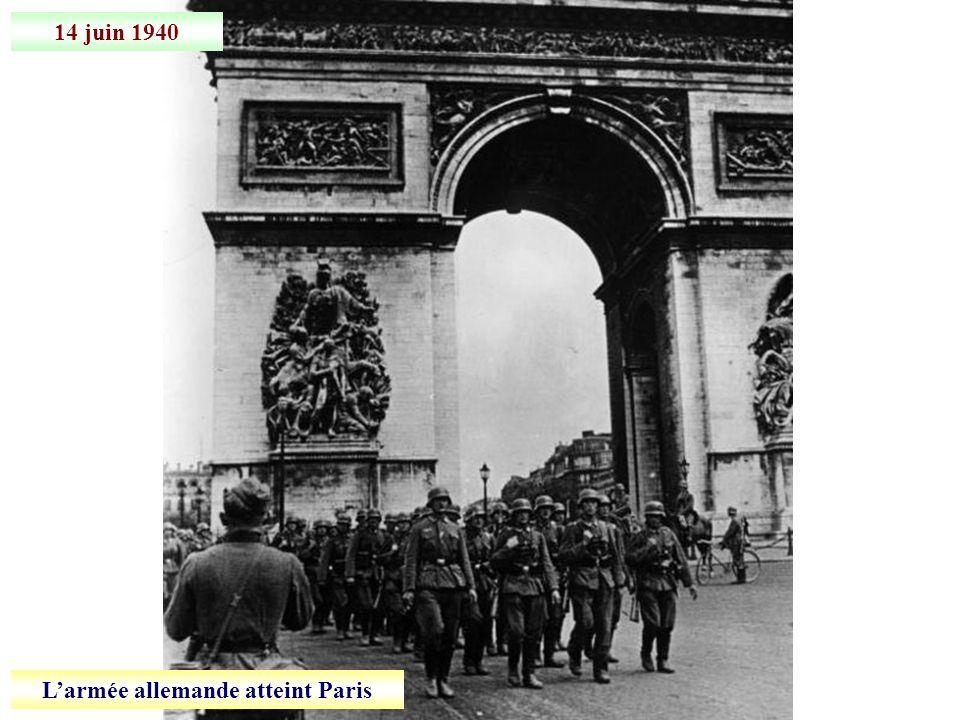 L'armée allemande atteint Paris