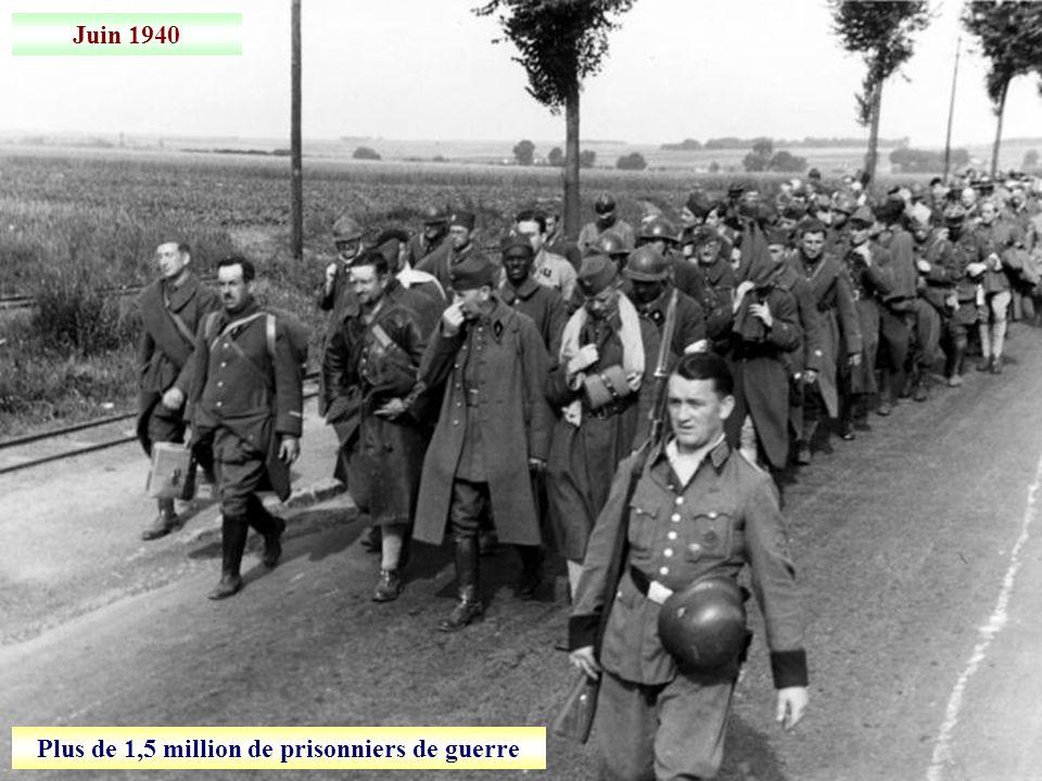 Plus de 1,5 million de prisonniers de guerre